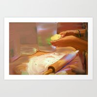 baking Art Prints featuring Baking by Karen Herman Jacquez