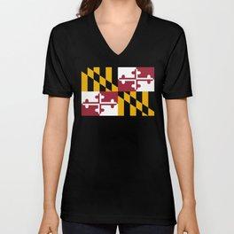State flag of Flag Maryland Unisex V-Neck