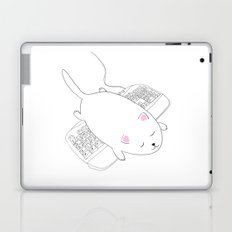 Cat Sleeping Laptop & iPad Skin