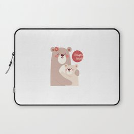 Mutual snatched bear mother and child Laptop Sleeve