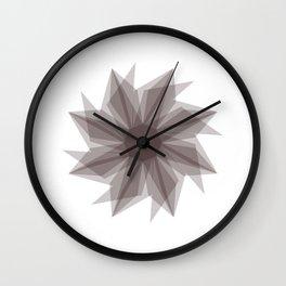 Starburst 2 gray Wall Clock