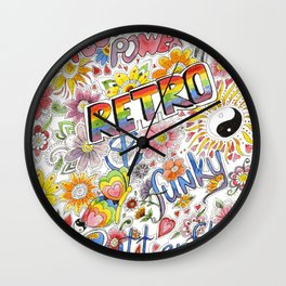 An Explosion of Color Wall Clock