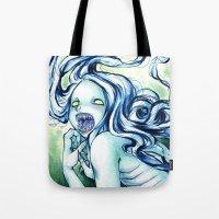 teeth Tote Bags featuring Teeth by Savannah Horrocks