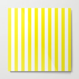 Vertical Yellow Stripes Metal Print