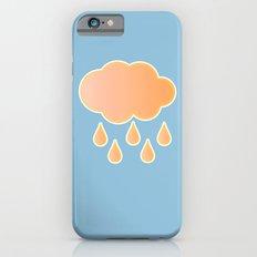 orange cloud, rainy day and blue background iPhone 6s Slim Case