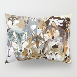 Wolves o´clock (Time to Wolf) Pillow Sham