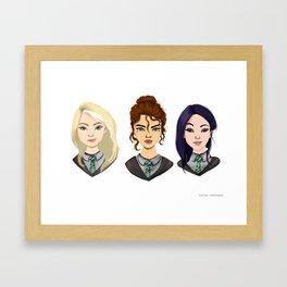 Slytherin girls Framed Art Print