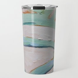 Brush Stokes Leaves Travel Mug