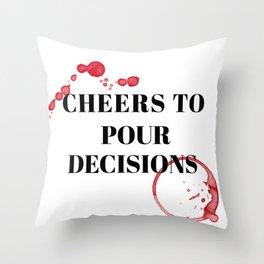 wine bar no. 9 Throw Pillow
