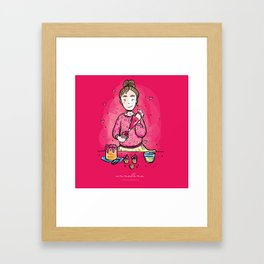Cupcake Crusader Framed Art Print