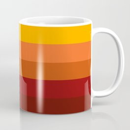 Light Gray & Orange Rainbow Stripes Coffee Mug