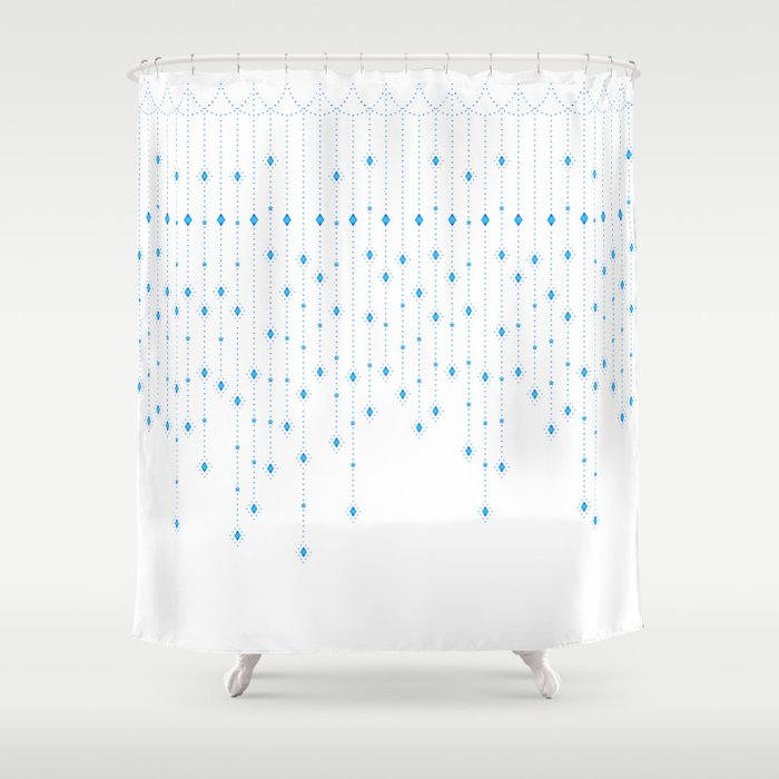 Blue Diamond Shower Curtain By Calisse