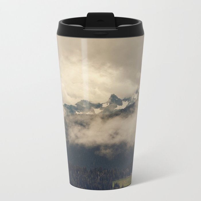 Mountains through the Fog Metal Travel Mug