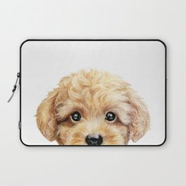 Toy poodle Dog illustration original painting print Laptop Sleeve