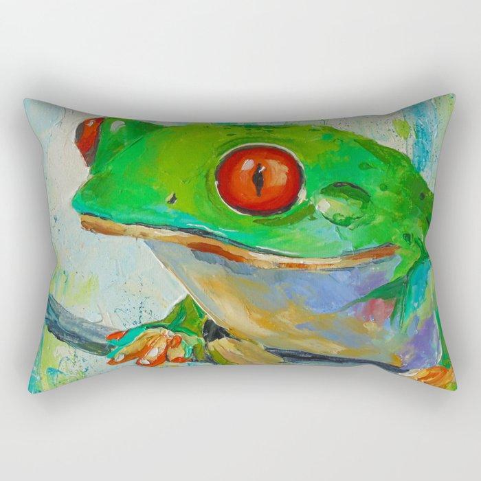 Frog  Rectangular Pillow
