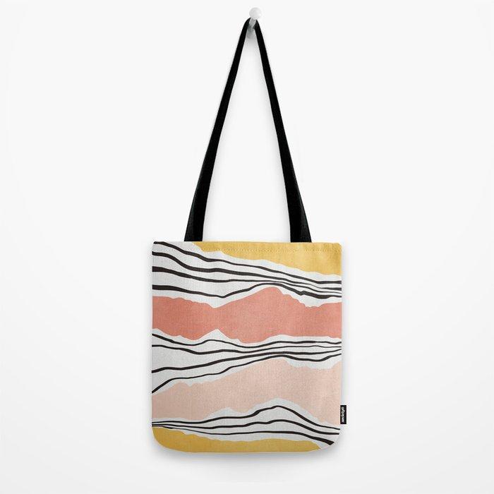 Modern irregular Stripes 01 Tote Bag
