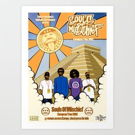 Souls Of Mischief 2012 European Tour Poster Art Print