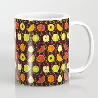 fruit Mugs featuring FRUIT by badOdds