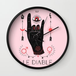 Le Diable or The Devil Wall Clock