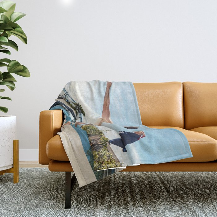 Freedom In Summer Throw Blanket