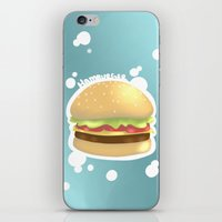 hamburger iPhone & iPod Skins featuring Hamburger  by Elisehill3