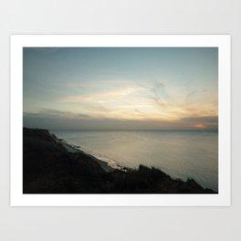 Sunset / color Art Print