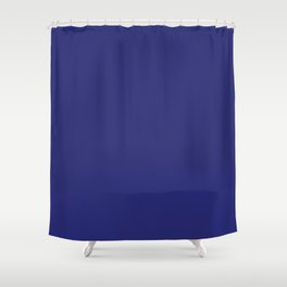 Navy Blue Solid Color Shower Curtain