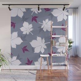 Serene Leaves Pattern Wall Mural