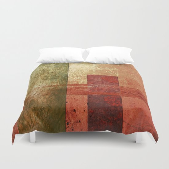 Converge, Abstract Grunge Art Duvet Cover