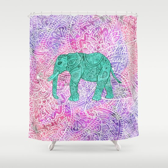 Elephant in paisley dream shower curtain by girly trend for Dream home season 6