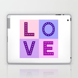 Love Hearts Love Type Pinks Purples Laptop & iPad Skin