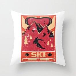 Ski Propaganda | Winter Sports Throw Pillow