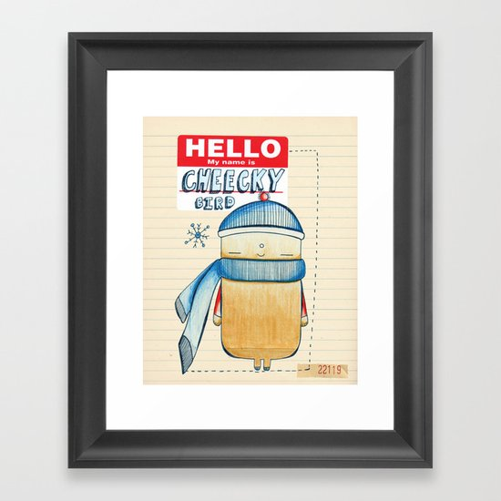 Cheeky Bird Framed Art Print