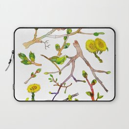 Spring pattern - branches, buds and flowers Laptop Sleeve