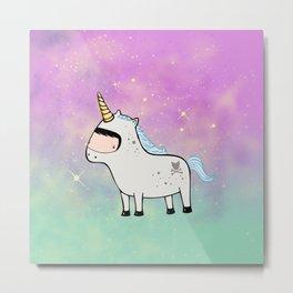 Unicorn Galaxy Metal Print