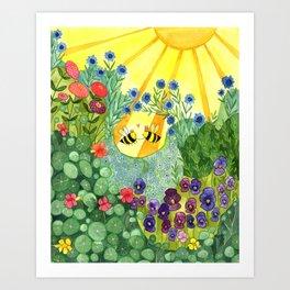 Bumblee Bee LOVE Art Print