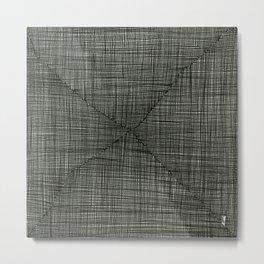 Ink Weaves: Charcoal Metal Print