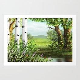 White birches 1 Art Print
