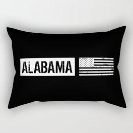 U.S. Flag: Alabama Rectangular Pillow