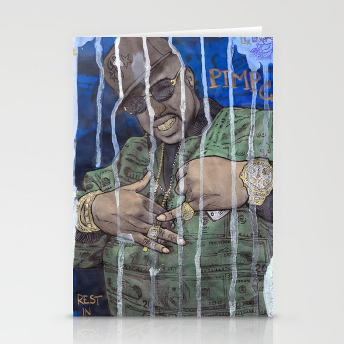 DEAD RAPPERS SERIES - Pimp C Stationery Cards by ibbanez