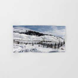 Carol M Highsmith - Snow Covered Hills Hand & Bath Towel