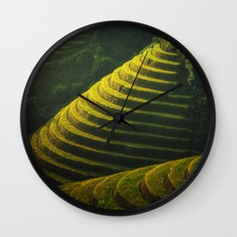 Rice Terraces Wall Clock