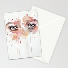 Missing you, watercolor eye study Stationery Cards