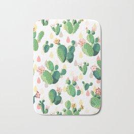 Cacti Floral Bath Mat
