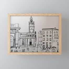 A walk in old town of Stockholm Framed Mini Art Print