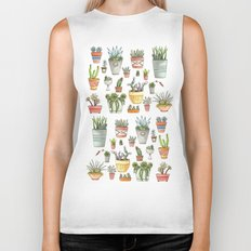 Potted Succulents Biker Tank