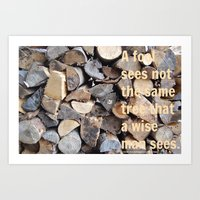 Wise men and fools Art Print