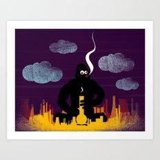 King Bong Art Print