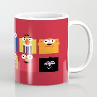 sesame street Mugs featuring Sesame street by Maria Jose Da Luz