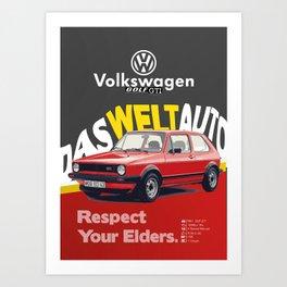 Respect Your Elders - 2 Art Print